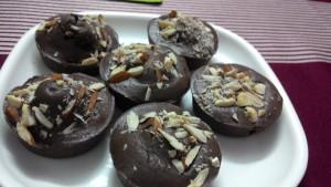 Choco almond muffins