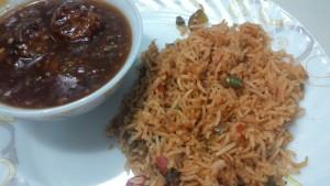 fried rice- Manchurian