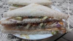 Vegetable cheese sandwhich