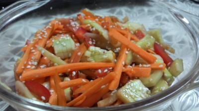 Thai Cucumber carrot salad