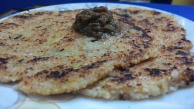Samak or samvt rice roti
