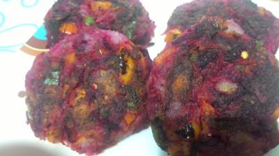 Beetroot mix veg tikki